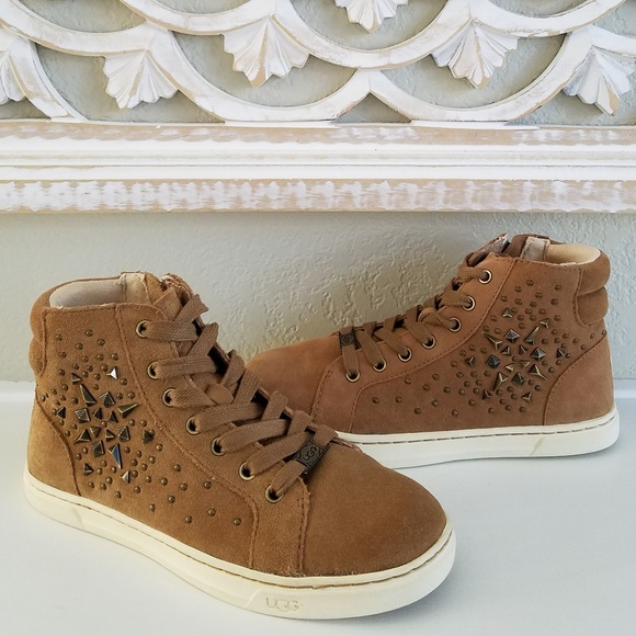 03090f5de61 NIB! UGG Gradie Deco Stud High Top Sneakers NWT